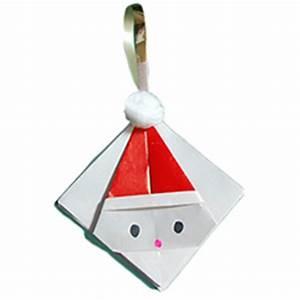 Origami Boule De Noel : t te de p re no l en papier ~ Farleysfitness.com Idées de Décoration