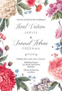 free wedding invitation sles garden free printable wedding invitation template greetings island