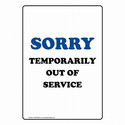 Temporarily Sorry Restrooms Order Bathroom Closed Signs
