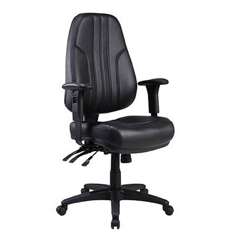 Office Chairs For Back by Interiors High Back Leather Office Chair Black