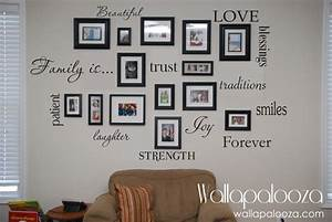 family wall decal set of 12 family words family room wall With the best of family decals for walls