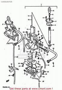 Suzuki Rgv250 1989  K   E02 E04 E21 E24 E34  Carburetor