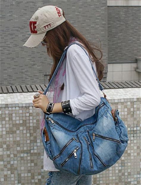 blue jean purse cute bag  school  canvasbags