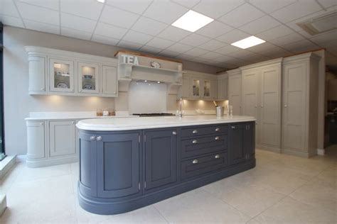 ex display kitchen island large burbidge langton painted ex display kitchen