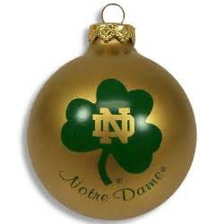notre dame fighting irish christmas ornament cool notre dame fan gear pinterest