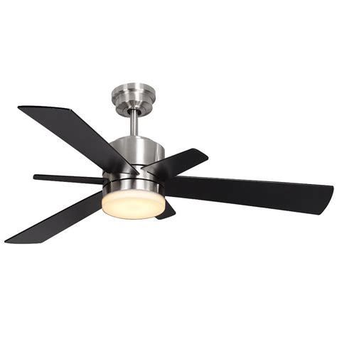 home depot ceiling fans with lights home decorators collection hexton 52 in led indoor