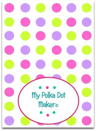 custom  polka dot template