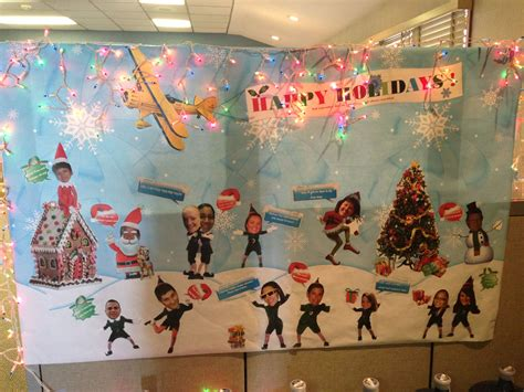 cubicle office mural holiday decoration holiday fun