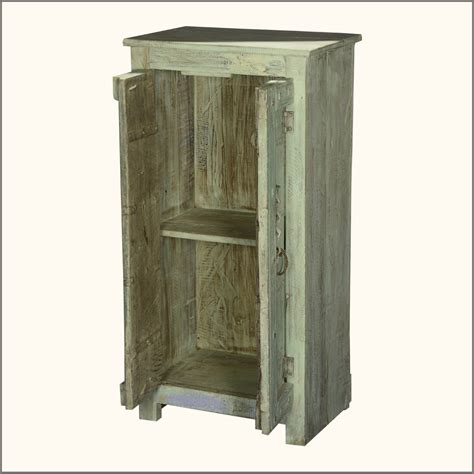 furniture small storage cabinet made of reclaimed wood in