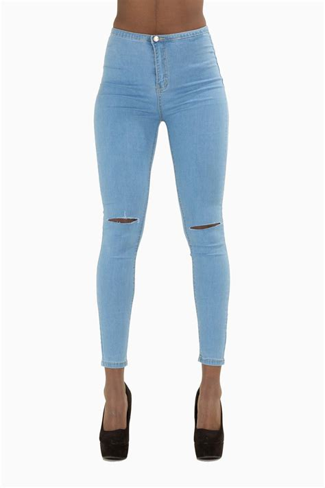 light wash high waisted skinny jeans womens high waist light wash blue denim skinny jeans
