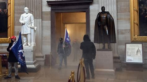 US Senate in 'lockdown' as protesters breach security ...