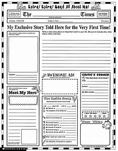 Instant personal poster sets extra extra read all about for About me template for students