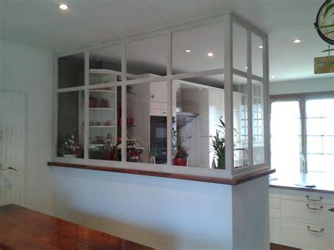 separation cuisine verriere réalisation verrière en bois cloison séparation de pièce