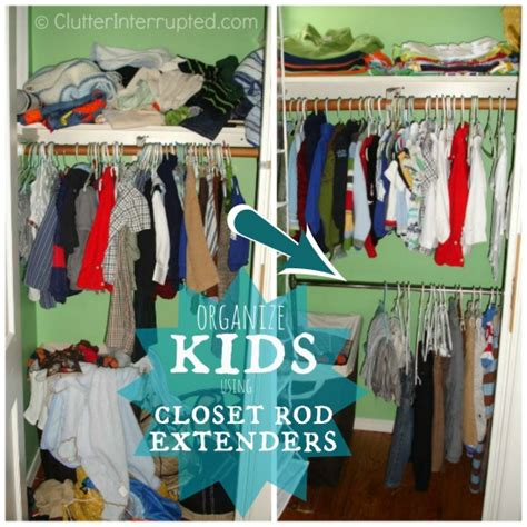 maximizing space with a closet extender rod
