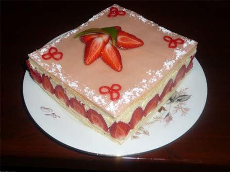recette fraisier  creme mousseline au kirsch