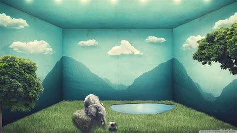 elephants nature  hd desktop wallpaper  wide