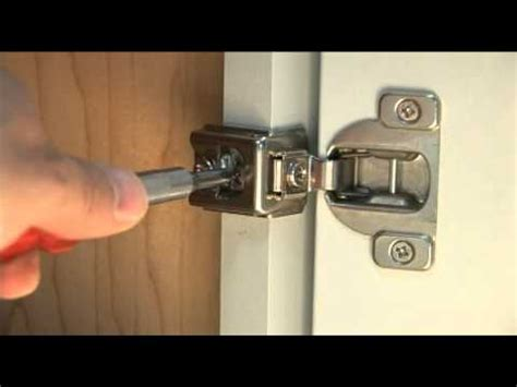 Full Overlay Cabinet Door Hinge Adjustment Guide by Dura