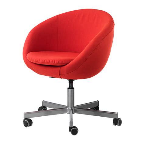 skruvsta chaise pivotante vissle orange ikea