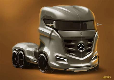 concept truck mercedes benz axor truck concept car body design