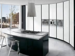 white kitchen black island black and white kitchen with curved island elektravetro white by ernestomeda digsdigs