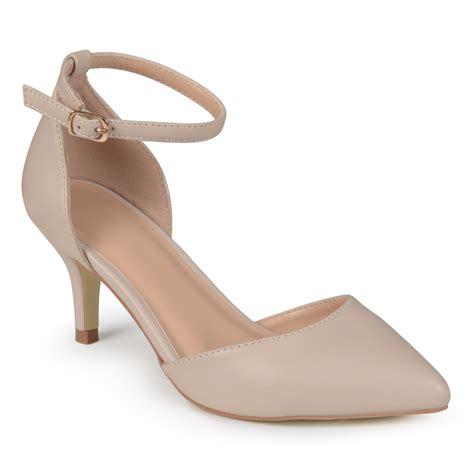 brinley  womens matte ankle strap pumps