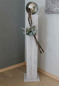 Holz Weiß Streichen Aussen : gs77 gro e dekos ule aus neuem holz f r innen und aussen wei gebeizt dekoriert mit einer ~ Whattoseeinmadrid.com Haus und Dekorationen