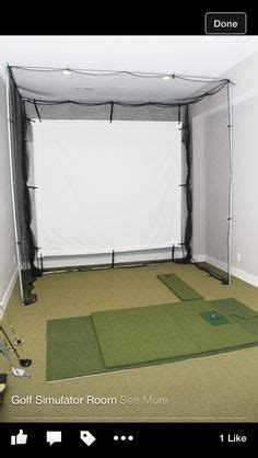 golf simulator room design ideas images   golf simulators golf room golf