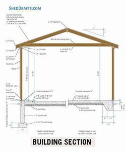14 U00d722 Detached Garage Shed Plans Blueprints For