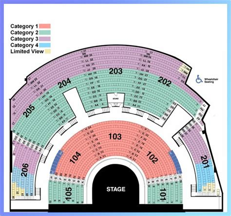 Mystere Seating Chart Category 3 At Mystere Theatre