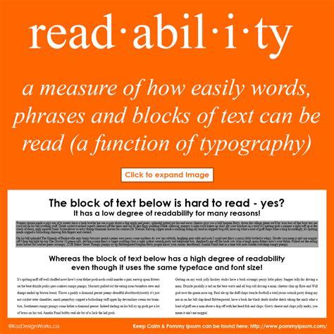 graphic design terms 9 10 legibility vs readability kaz talk