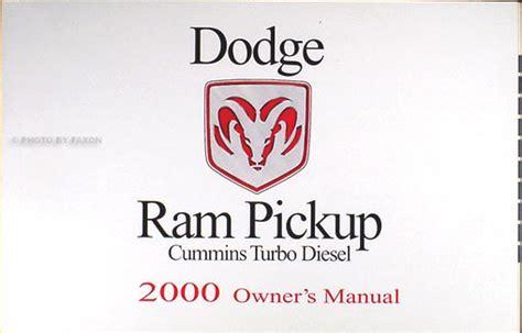 car manuals free online 2000 dodge ram 1500 electronic toll collection 2000 dodge ram cummins turbo diesel pickup truck original owner manual