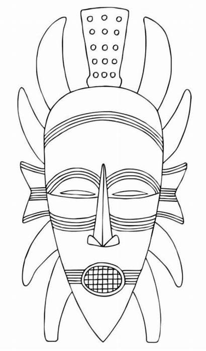 Mask African Draw Simple Drawing Improve