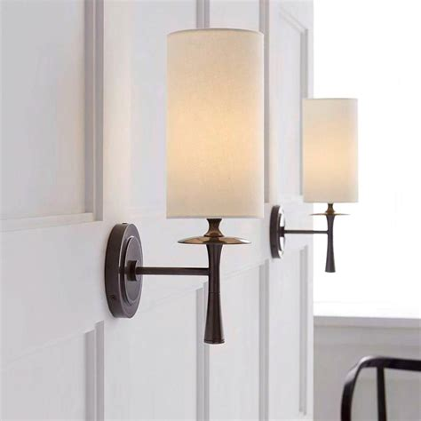 aerin drunmore single sconce bronze wall light