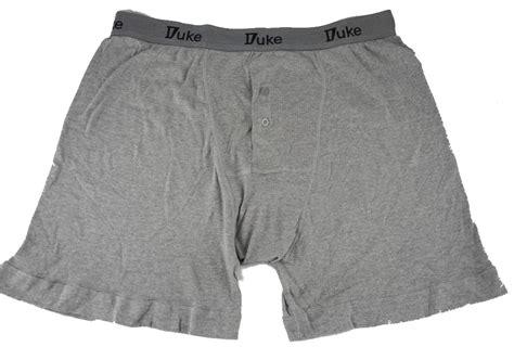Pack 3 Mens Duke Button Fly Boxer Shorts Briefs Pants