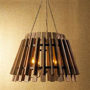 Wood slat industrial chandelier chandeliers by shades