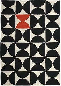 Tapis Noir Et Rouge : tapis alpha kilim 200 x 300 cm rouge noir blanc sentou edition ~ Dallasstarsshop.com Idées de Décoration