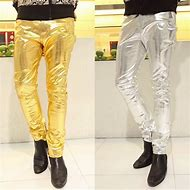 New Mens Skinny Faux PU Leather Pants S…