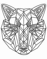 Wolf Coloring Simple Pages sketch template