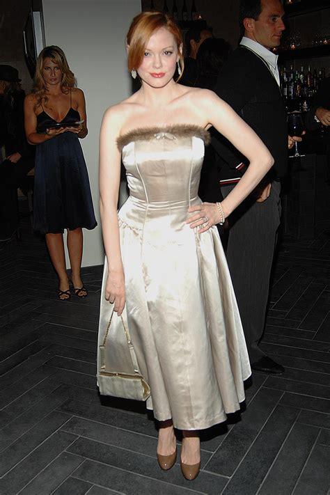 Rose McGowan Satin Dress