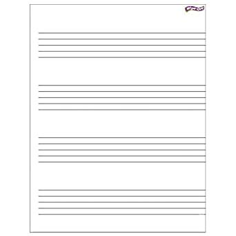 """210 blank sheets music are collected for any of your needs. Amazon.com: TREND Enterprises, Inc. T-27304BN Music Staff Paper Wipe-Off Chart, 17"""" x 22"""", Pack ..."""