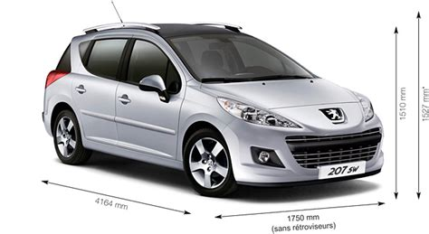 dimensions peugeot 207 peugeot 207 sw dimensions automotive