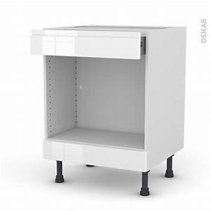 Meuble Bas Cuisine Blanc : meuble de cuisine bas mo encastrable niche 45 ipoma blanc ~ Teatrodelosmanantiales.com Idées de Décoration