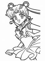 Sailor Moon Coloring Pages Printable Cute Anime Chibi sketch template