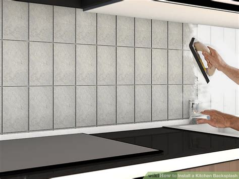 Kitchen Backsplash How To Install by How To Install A Kitchen Backsplash With Pictures Wikihow