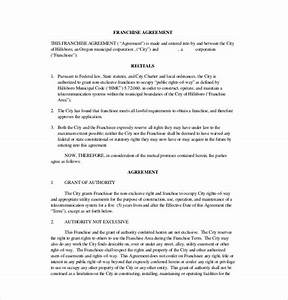 franchise agreement template 12 free word pdf With franchise documents templates