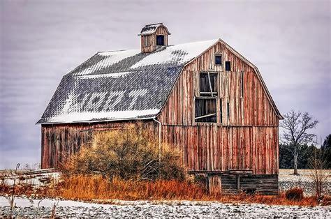 Old Red Barn Photograph By Leeann Mclanegoetz