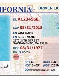 drivers license fake drivers license drivers license psd With california id template download