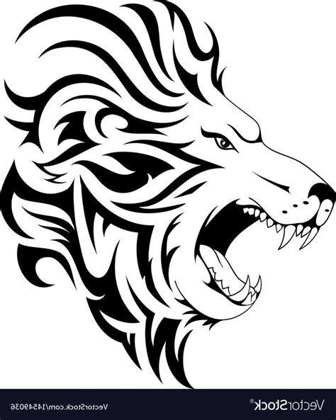 lion tribal tattoo design vector wallkeeper