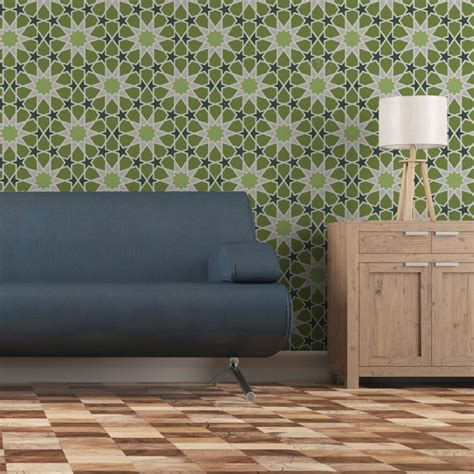 moroccan large geometric wall stencil demna  easy diy