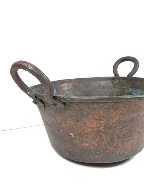 antique copper pot french country copper cookware antique